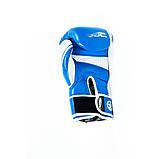 Боксерські рукавиці PowerPlay 3023 Синьо-Білі [натуральна шкіра] 16 унцій, фото 7