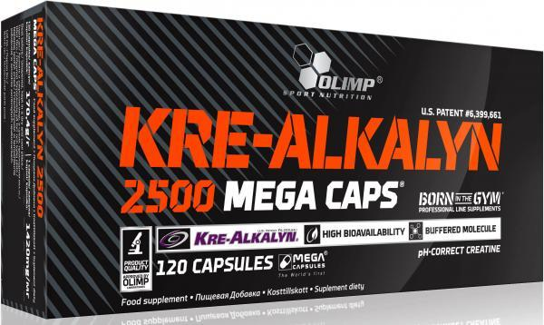 Креатин Olimp Kre-Alkalyn 2500 Mega Caps, 120 капсул
