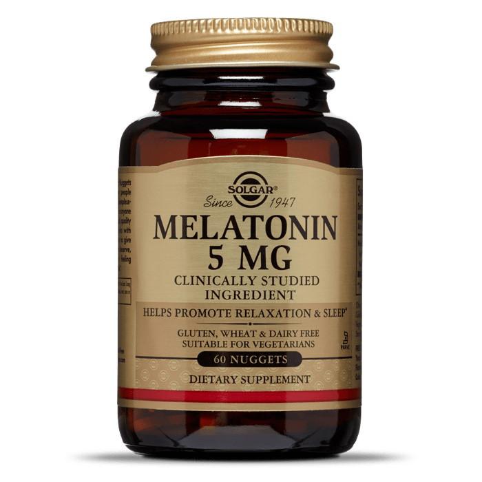 Восстановитель Solgar Melatonin 5 mg, 60 таблеток