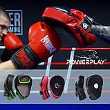 Лапи боксерські PowerPlay 3041 Чорні PU [пара], фото 7