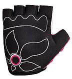 Велорукавички PowerPlay 5470 Біло-рожеві  2XS, фото 3