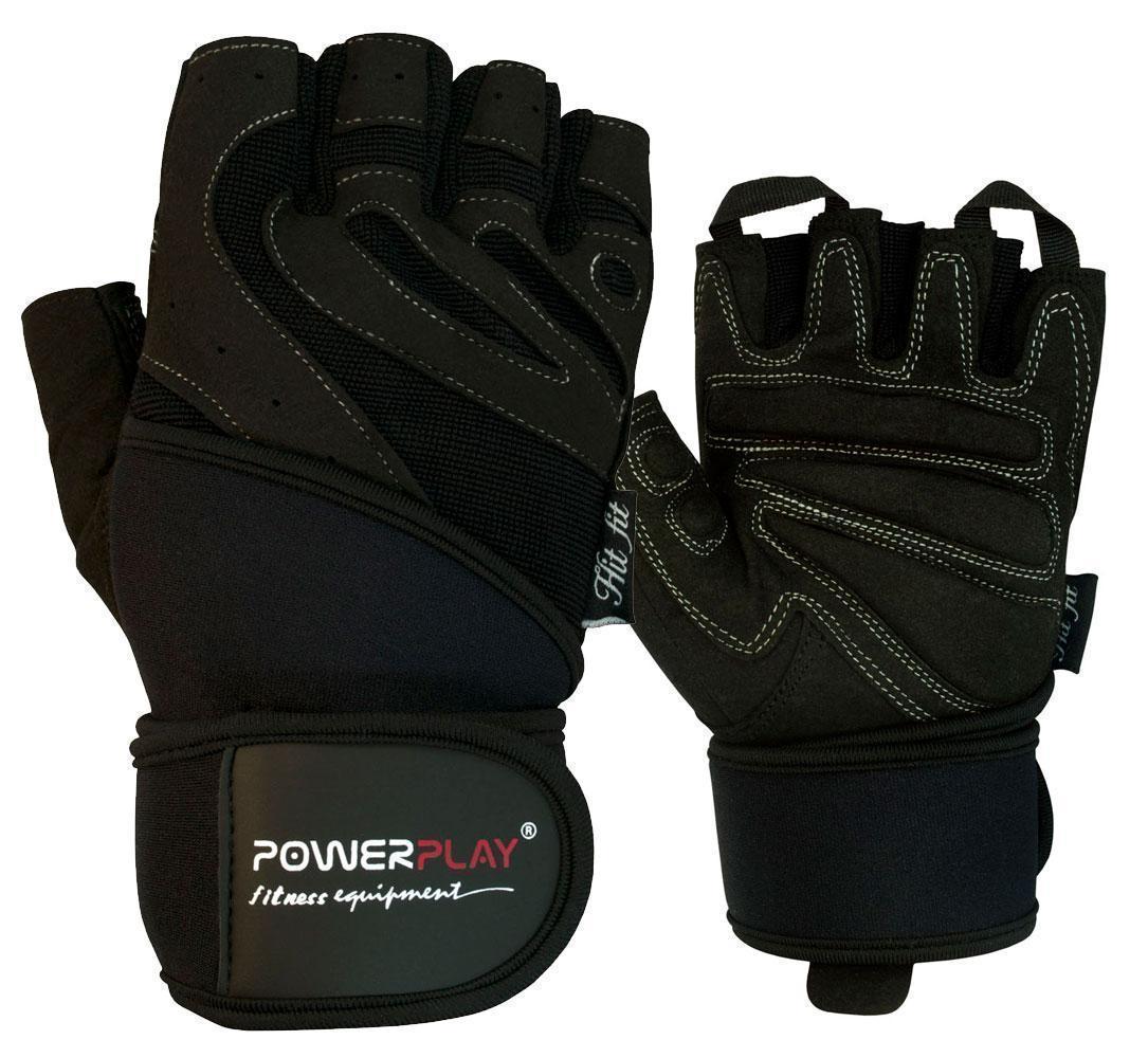 Рукавички для фітнесу PowerPlay 1063 E Чорні XL