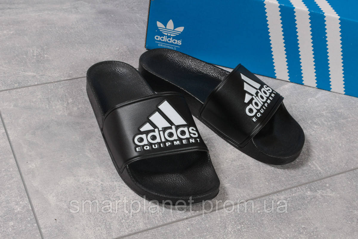 Шлепанцы мужские 16292, Adidas Equipment, черные, < 42 43 44 45 > р. 42-26,9см.