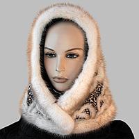 Платок норковый новый модный зимний узорный