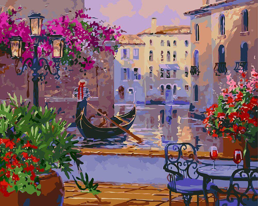 KH3559 Картина-раскраска Волшебная Венеция, В картонной коробке