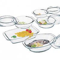 Набор стеклянной жаропрочной посуды 9 предметов Simax Color 315