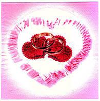 """Салфетки бумажные """"Свадебные сердце"""". В упак: 20 шт."""
