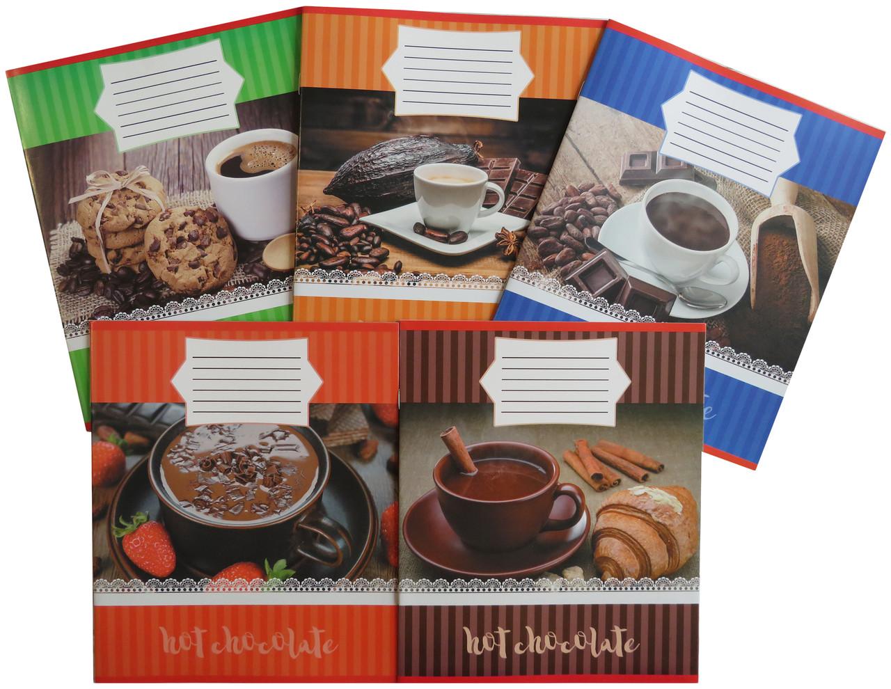 Тетрадь школьная в клеточку 18 листов Лидер, Горячий шоколад