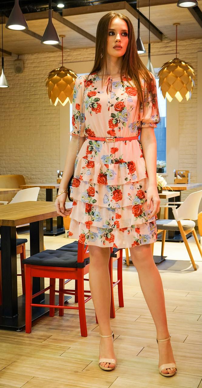Платье Alani-1172 белорусский трикотаж, розовый, 44