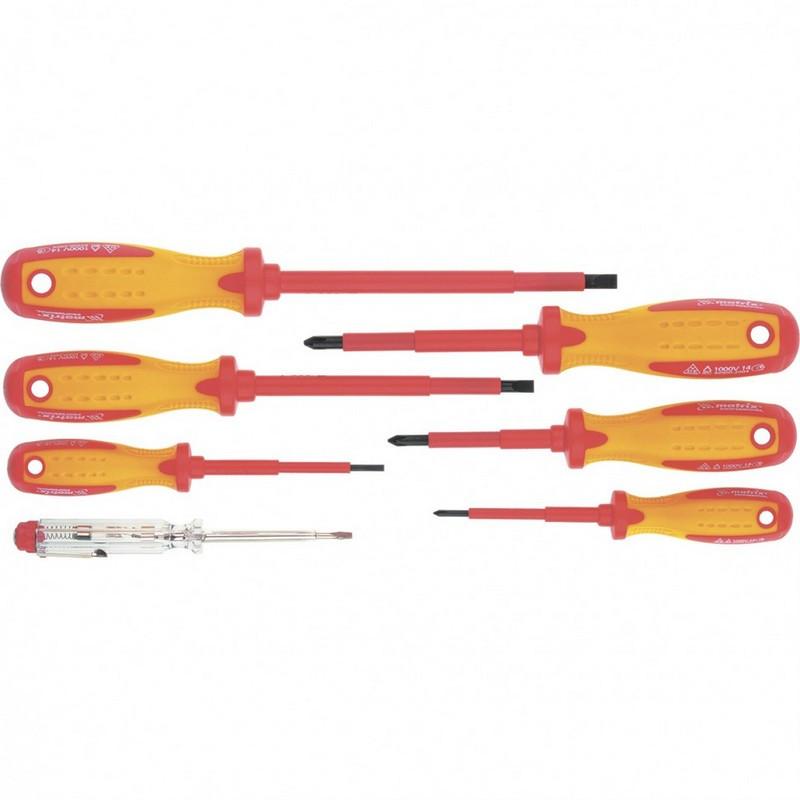 Набор диэлектрических отверток 7 шт до 1000 В  MTX 13355