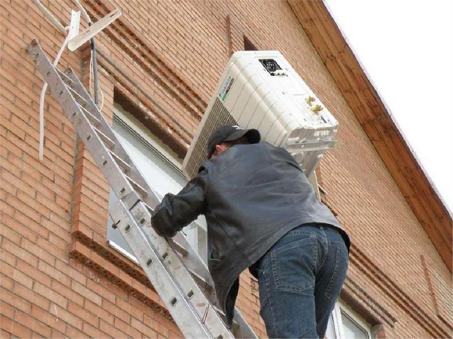 Установка/Демонтаж наружного блока с лестницы за каждый этаж, 07-16 (от 1,8 до 4,9 кВт.)