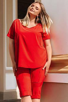 Летний батальный костюм Сандрео софт красного цвета