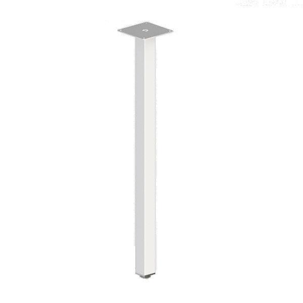 """Ножка для стола """"Кая"""" из металла в белом цвете"""