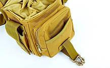Стегновий сумка Сват тактична універсальна сумка Swat Coyote (229-coyote), фото 3