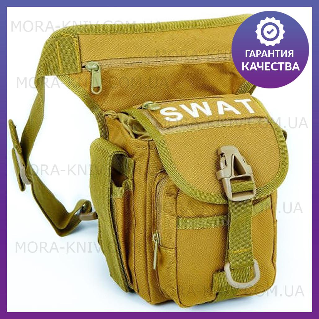 Стегновий сумка Сват тактична універсальна сумка Swat Coyote (229-coyote)