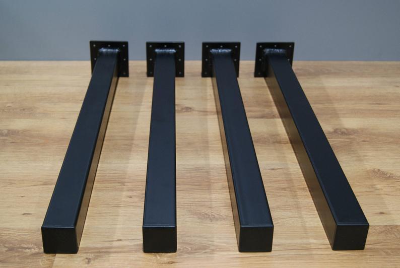 """Металеві ніжки для столу """"Кая"""" чорний колір"""