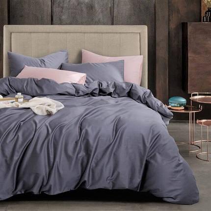 Постельное белье сатин Grey violet ТМ Moonlight Евро, фото 2