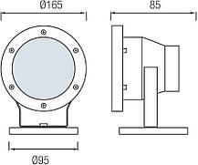Подводный светильник SL286L 3.5W 12V 6500К IP68  Код.58795, фото 3