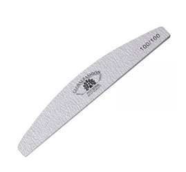 Пилочка для ногтей Global Fashion 100/100 серая (луна)