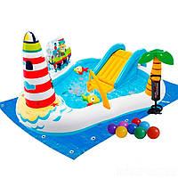 Надувний ігровий центр Intex 57162-2 Весела Рибалка,218x188x99,з надувною вудкою,рибки,кульки,насос,підстилка