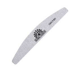Пилочка для ногтей Global Fashion 120/120 серая (луна)
