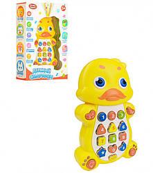 Детский музыкальный обучающий телефон Play Smart Утка, желтый