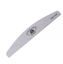 Пилочка для ногтей Global Fashion 180/180 серая (луна)
