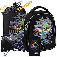 Школьный набор первоклассника Kite Hot Wheels HW20-555S + Зонт