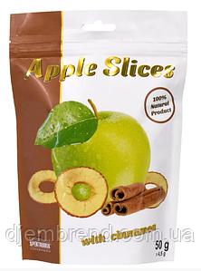 Слайсы яблучні сушені з корицею Apple Slices, 50 г