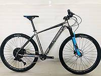 Спортивный велосипед 29 дюймов Crosser Solo Серо-синий   Кроссер Соло Ал рама Гидравлический тормоз