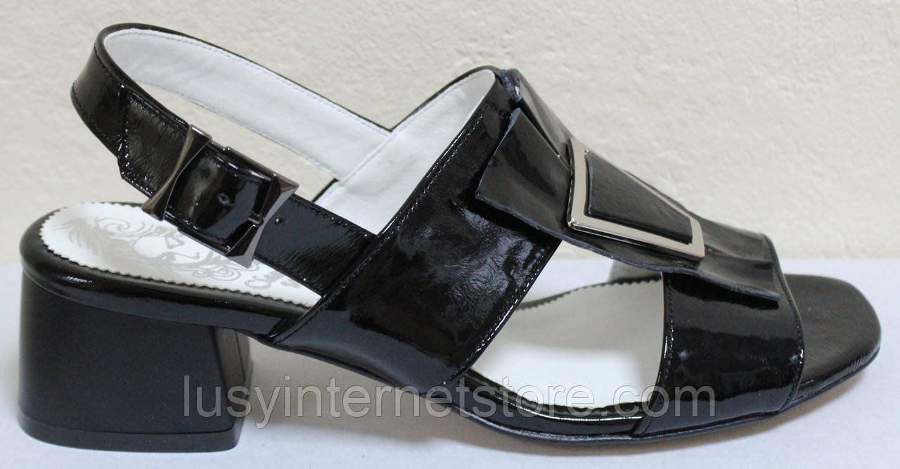 Босоножки на каблуке кожаные от производителя модель КЛ2164-1Р