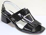 Босоножки на каблуке кожаные от производителя модель КЛ2164-1Р, фото 2