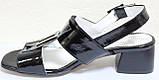 Босоножки на каблуке кожаные от производителя модель КЛ2164-1Р, фото 3
