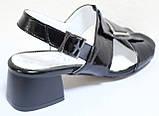 Босоножки на каблуке кожаные от производителя модель КЛ2164-1Р, фото 4