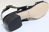 Босоножки на каблуке кожаные от производителя модель КЛ2164-1Р, фото 6
