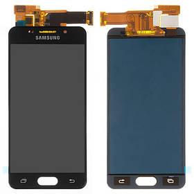 Дисплей (екран) для Samsung A310 Galaxy A3 (2016) з сенсором (тачскріном) черный з регулюванням (TFT)