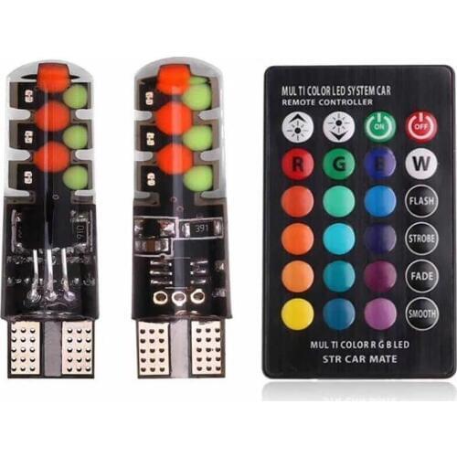 Автолампы цветные в авто (с пультом управления)