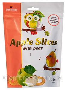 Слайсы яблучні сушені з грушею Apple Slices, 33 г