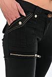 Женские брюки OMATjeans  9261-218 черные, фото 8