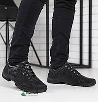 Мужские кроссовки черные с прошитой подошвой, фото 3