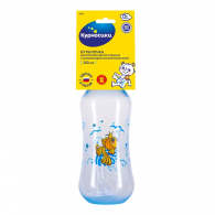 Бутылочка для кормления «Курносики» с 2-мя силиконовыми сосками молочными, 125 мл.