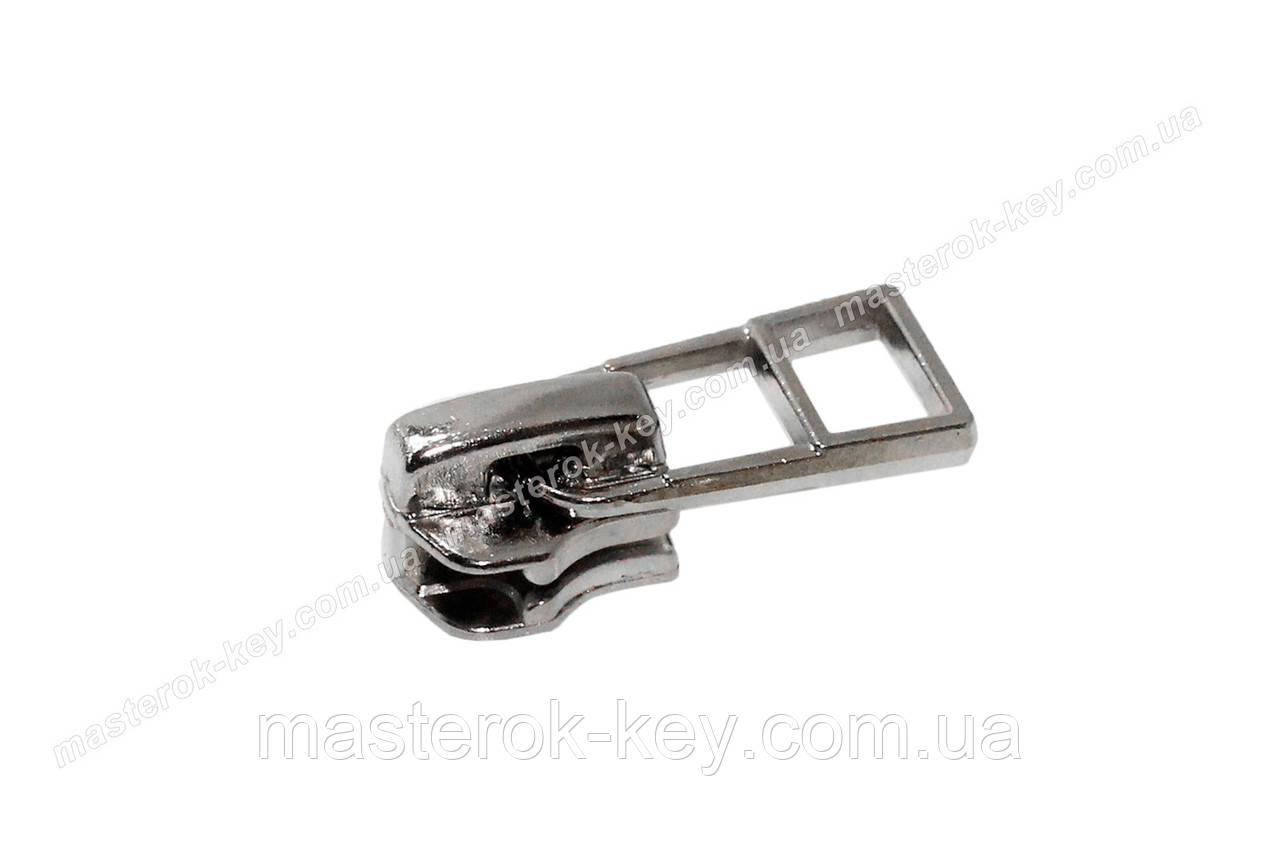 Бегунок №5 для металлической молнии с фиксатором НН-3888 никель