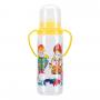Бутылочка для кормления «Курносики» с ручками и 2-мя силиконовыми сосками молочными, 250 мл