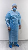 Халат хирургический ламинированный (140 см), одноразовый, пл. 40/45 г/кв.м.