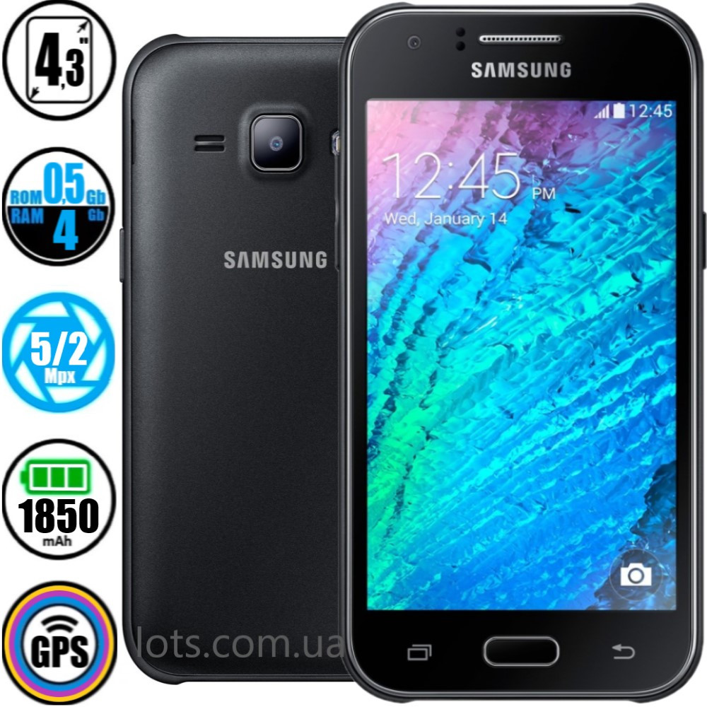 Смартфон Samsung Galaxy J1 J100H Duos Black + Подарок Стекло