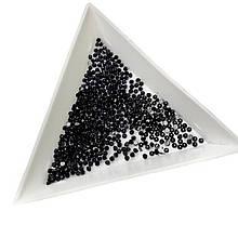 Стразы черные 50 шт