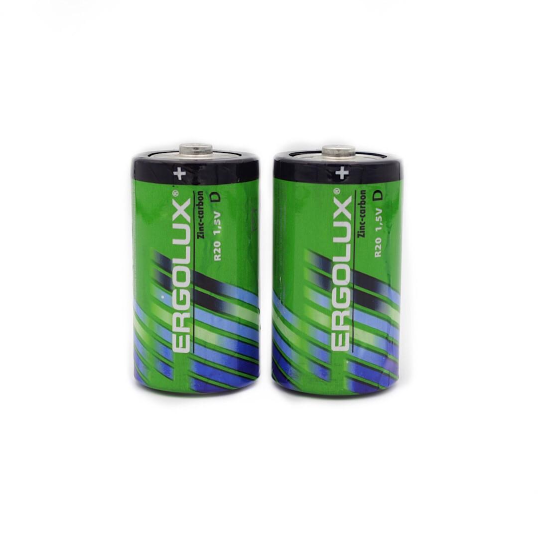 Батарейки R20 Ergolux
