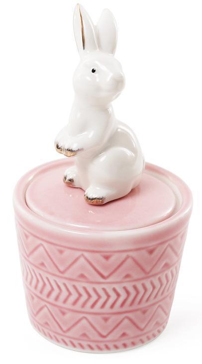 Декоративная шкатулка-статуэтка Bona Грациозный кролик 7.3х7.3х13.5см Розовая (psg_BD-727-141)
