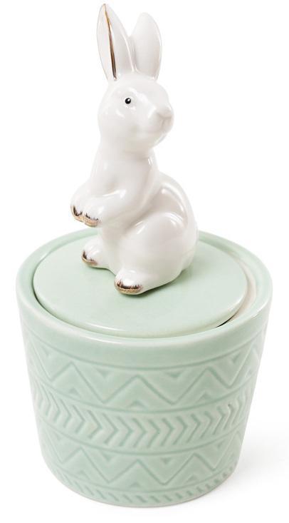 Декоративная шкатулка-статуэтка Bona Грациозный кролик 7.3х7.3х13.5см Мятная (psg_BD-727-140)