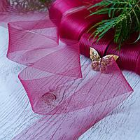 Регилин плоский (кринолин мягкий) / ширина 1,5 см / цвет бордовый / упаковка 25 м